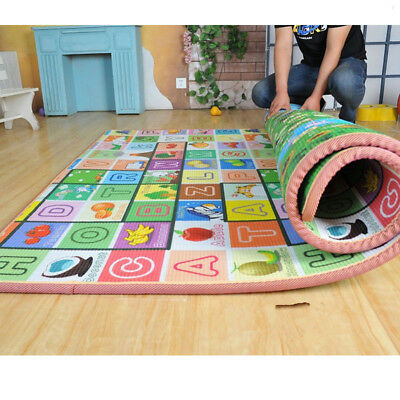 £17.99 • Buy Large Play Mat 2 Sided Baby Kids Crawling Educational Soft Foam Game Carpet Gift