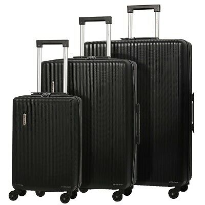 5 Cities ABS Hard Shell Luggage Suitcase With 4 Wheels Cabin Hold Medium Large • 25.99£