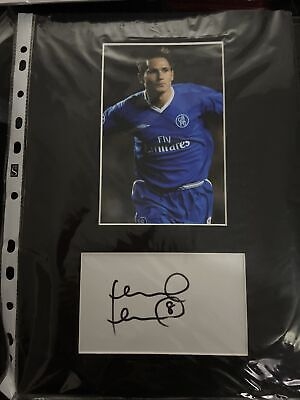 Frank Lampard Signed Chelsea Mount With COA • 5£