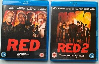 RED 1 And Red 2 Blu-ray Bundle Helen Mirren Bruce Willis • 2.97£