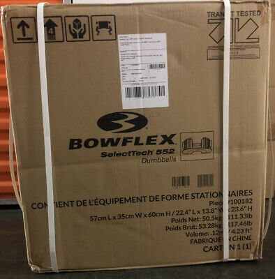 $ CDN634.34 • Buy Bowflex SelectTech 552 - TWO Adjustable Dumbbells BRAND NEW Factory Sealed
