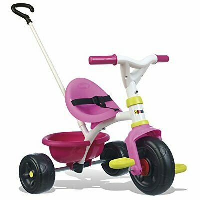 Smoby Push Along Trike With Parent Handle | Removable Handle Converts It To • 57.99£