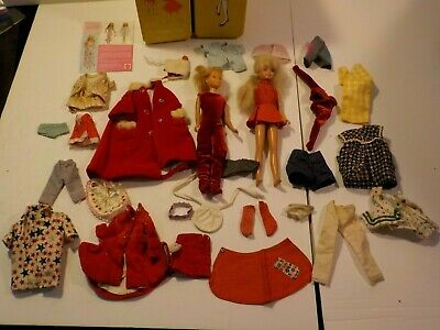 $ CDN77.07 • Buy N Vintage Barbie Doll Lot 1960s 70s SKIPPER Dolls Clothes Case Mattel