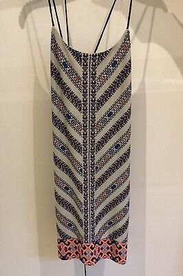 AU19 • Buy Tigerlily Summer Dress Mini - Xs 6 Multi Coloured Tie Up Back Great Condition