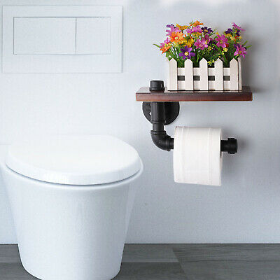 AU12.59 • Buy Stainless Steel Toilet Paper Roll Holder With Phone Shelf For Bathroom Washroom