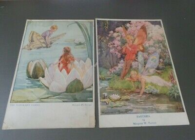 Margaret Tarrant Postcards, Two, Fantasia & Water Lilies • 2£