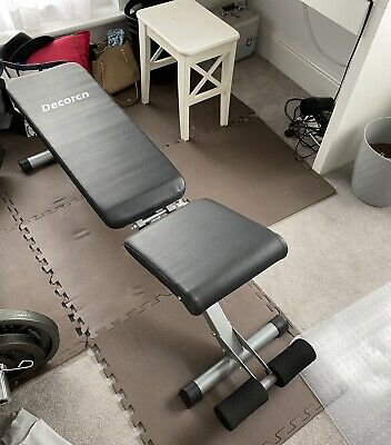 Bench As Well As Olympic Barbell & 30 KG (2 X 15 KG) Weight Plates • 100£