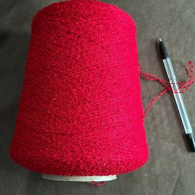 450g YEOMAN Yarn TULIPANO Red Boucle  Hand/Machine Knit 78 % Acrylic 22% Nylon  • 4.50£