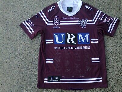 AU225.99 • Buy SIGNED Manly Sea Eagles Limited Edition NRL Rugby League Jersey  NEW