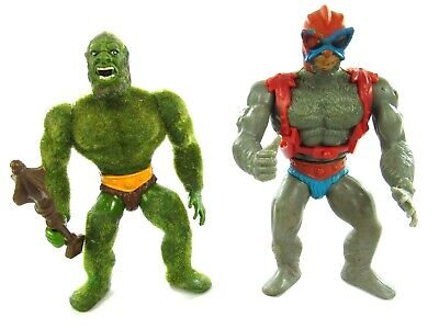 $39.99 • Buy MOTU Vintage Moss Man Complete & Stratos Lot Of 2 Masters Of The Universe He-Man