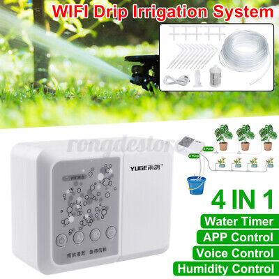 25Pcs 10M Hose Automatic Watering Drip Irrigation System WiFi APP Timer Garden • 36.93£