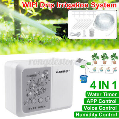 25Pcs 10M Hose Automatic Watering Drip Irrigation System WiFi APP Timer Garden • 38.87£