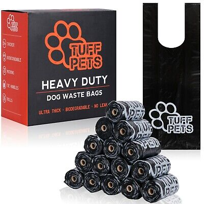 £12.99 • Buy Tuff Pets 50% Stronger Dog Poo Bags | Biodegradable Doggie Bags W/ Tie Handles