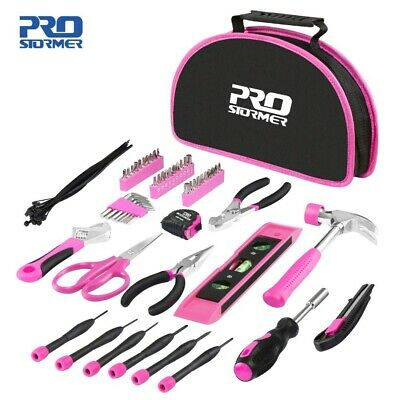 Ladies Tool Kit 69pcs Pink Tool Sets Diy Hammer Scissors Pliers • 37.90£