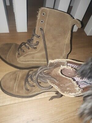 Superdry Trendy Casual Brown Womens Boots Size 4 • 15£