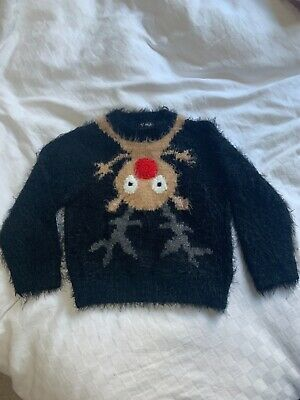 Next Christmas Jumper, Age 3-4 - With Light Up Rudolph Nose! • 3£