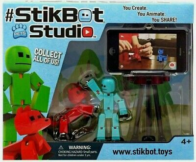 Stikbot Studio Pets Animation Set Create Stop Motion Video Figures Tripod 4+ NEW • 12£
