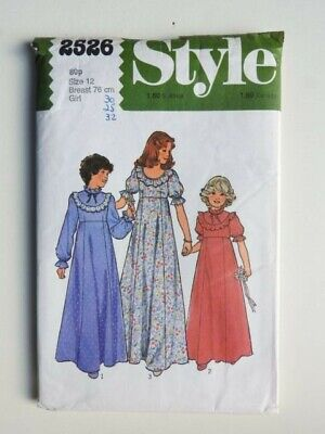 £6.99 • Buy Style Sewing Pattern 2526 Girls Bridesmaid Or Party Dress Size Age 12 UNCUT FF