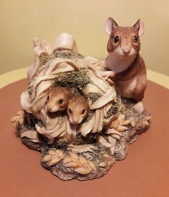 Very Rare Superb Vintage Border Fine Arts Scotland Ayres Field Mice Figurine • 34.99£
