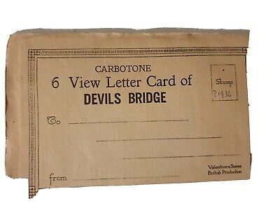 Valentines Pictorial Folding Letter 6 Cards Of Devils Bridges And Waterfalls • 1.50£