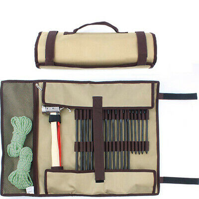 AU16.12 • Buy Practical Tent Nail Hammer Stakes Pegs Heavy Duty Storage Bag Holder Case SK