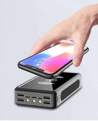 AU55.27 • Buy 50000mAh Portable 4USB Wireless Fast Charging Solar Power Bank Battery For Phone