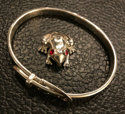 $ CDN71.18 • Buy 35.6 Grams 925 Sterling Silver Jewelry Lot Buckle Bracelet And Frog Charm