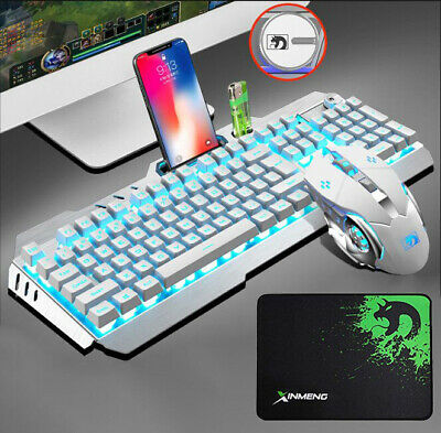 AU49.89 • Buy Gaming Keyboard And Mouse Combo RGB Backlit Wired USB For PC Laptop PS4 Xbox One