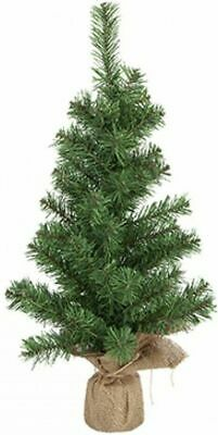 CHRISTMAS TREE Norway Pine Tall Table Top Tree Jute Bag Wrap Retro Desk Office • 7.49£