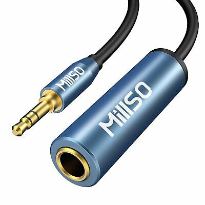 MillSO Headphone Jack Adapter 3.5mm 1/8 Inch To 6.35mm 1/4 Inch Jack TRS Ster... • 20.92£