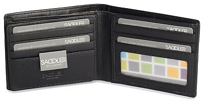 £33.04 • Buy SADDLER Mens Genuine Leather 11 Credit Card Tab Wallet Billfold With Large ID...