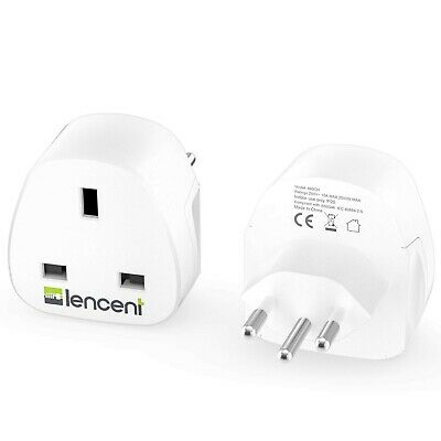 £28.20 • Buy LENCENT 2X UK To Switzerland Plug Adapter, Grounded Swiss Travel Adapter For ...