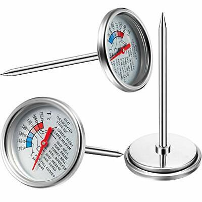 3 Pieces Dial Meat Thermometers Stainless Steel Fry Temperature Thermometer • 14.26£