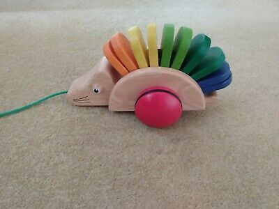 Pintoy Wooden Pull Along Hedgehog • 5£