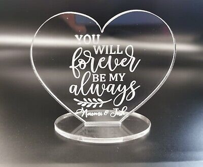 AU14.25 • Buy Personalised Valentines Day For Him Or Her Husband Wife Boyfriend Gift Plaque