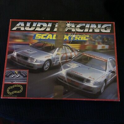 Vintage Hornby Scalextric Audi  Racing Box Set Two Touring Cars  Audi A4 VG  • 65£