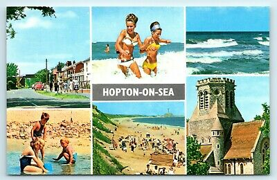 Postcard Hopton-on-sea Multiview Swimsuit Colour Constance Series A3/13 • 2£