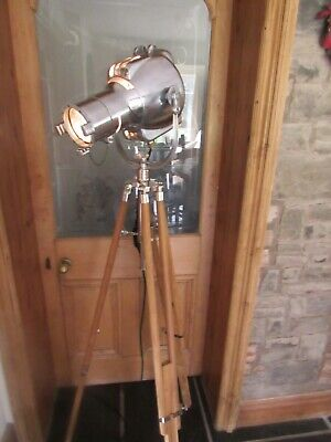 Strand Patt 23 Vintage Theatre Light, Stage, Polished With New Matching Tripod . • 485£