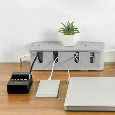 Cable Storage Box Wire Management Socket Safety Tidy Organizer • 9.79£