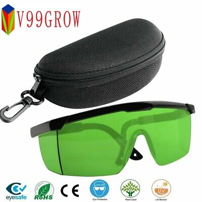 LED Grow Light Glasses Indoor Hydroponic Room Plant Visual Eye Protection UV FX • 4.08£