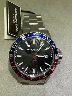Raymond Weil 8280-st3-20001 Mens Divers Watch Pepsi Tango • 795£