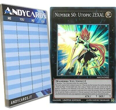 Andycards Yu-Gi-Oh! - NUMBER S0: UTOPIC ZEXAL - Super Rare MACR-ENSE2 In ENGL... • 39.42£