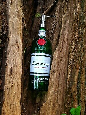 Tanqueray Gin Upcycled/recycled Alcohol Bottle Soap Dispenser • 17£