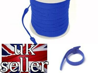 Velcro Straps Cable Tie Reusable One Wrap® 20mm X 200mm Blue Cable  Managment  • 1.59£