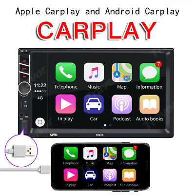 AU98.99 • Buy 7  Double Din Car Stereo Radio For Apple CarPlay Android MP5 Player Head Unit HK