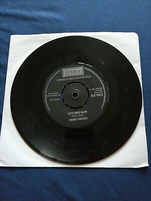 1975 Chubby Checker Let's Twist Again 7   Vinyl 45 Single Record UK. VG • 1.50£