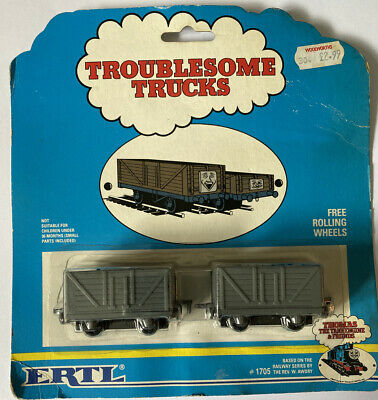 Thomas The Tank Engine Troublesome Trucks ERTL Die Cast 1990 1705 On Card • 20£