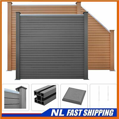 Best! WPC Fence Set Outdoor Garden Panel Lawn Border Posts Multi Choice • 22.39£