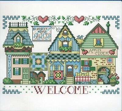 WELCOME COUNTED CROSS STITCH KIT 14 COUNT AIDA FINISHED SIZE 23x15CM • 12.99£