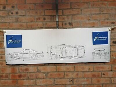 Volvo P1800 Large Pvc  WORK SHOP BANNER Garage  SHOW BANNER • 13£